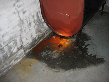 Leaking Oil Tank